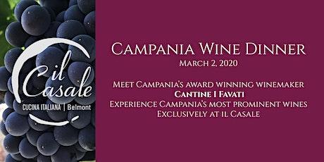 Campania Wine Dinner tickets
