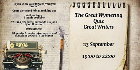The Great Wymering Quiz - Great Writers tickets