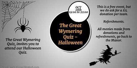 The Great Wymering Quiz - Halloween tickets