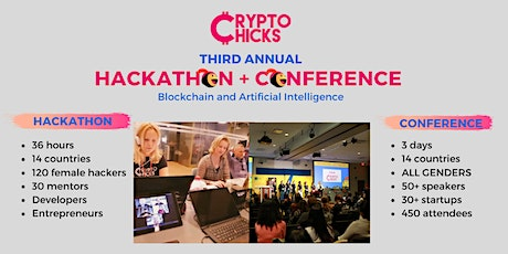 CryptoChicks Conference and Hackathon 2020 - Blockchain and AI tickets