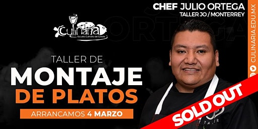 Taller de Montaje de Platos por Chef Julio Ortega en Mérida