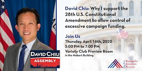 David Chiu: Why I support the 28th Amendment tickets