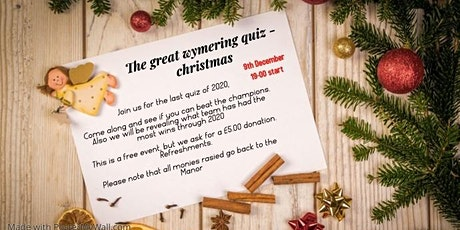 The Great Wymering Quiz - Christmas tickets