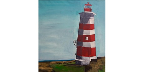 Ocean Lighthouse Paint & Sip Pint Night - Art Painting, Drink & Food tickets