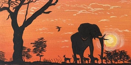 Super FUN Paint and Sip! 'Elephant in Reflection' tickets
