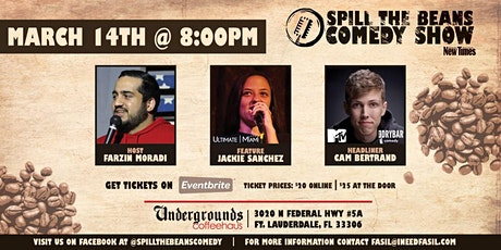 Spill the Beans Stand Up Comedy Show- Cam Bertrand (MTV & Dry Bar Comedy) tickets