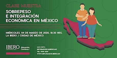 Sobrepeso e integración económica en México entradas