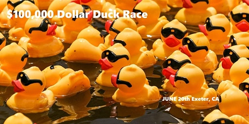 $100,000 EXETER DUCK RACE     for the David Maurer Memorial          Scholarship Endowment benefitting Exeter High School