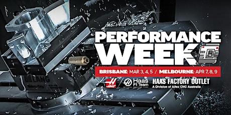 Performance Week - HFO Australia Brisbane tickets