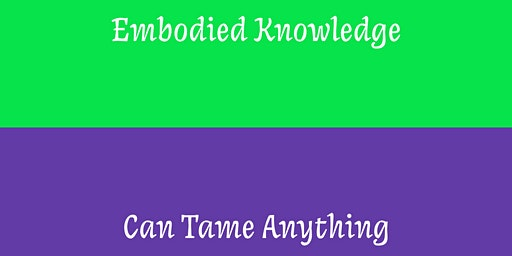 Embodied Knowledge/Can Tame Anything; book launch