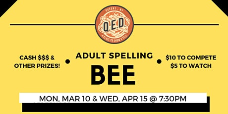 Adult Spelling Bee tickets
