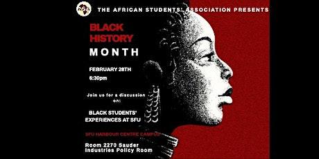Black Students' Experiences at SFU tickets