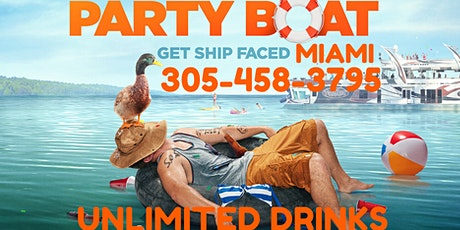 #Miami Party Boat  Unlimited  Drinks Included tickets