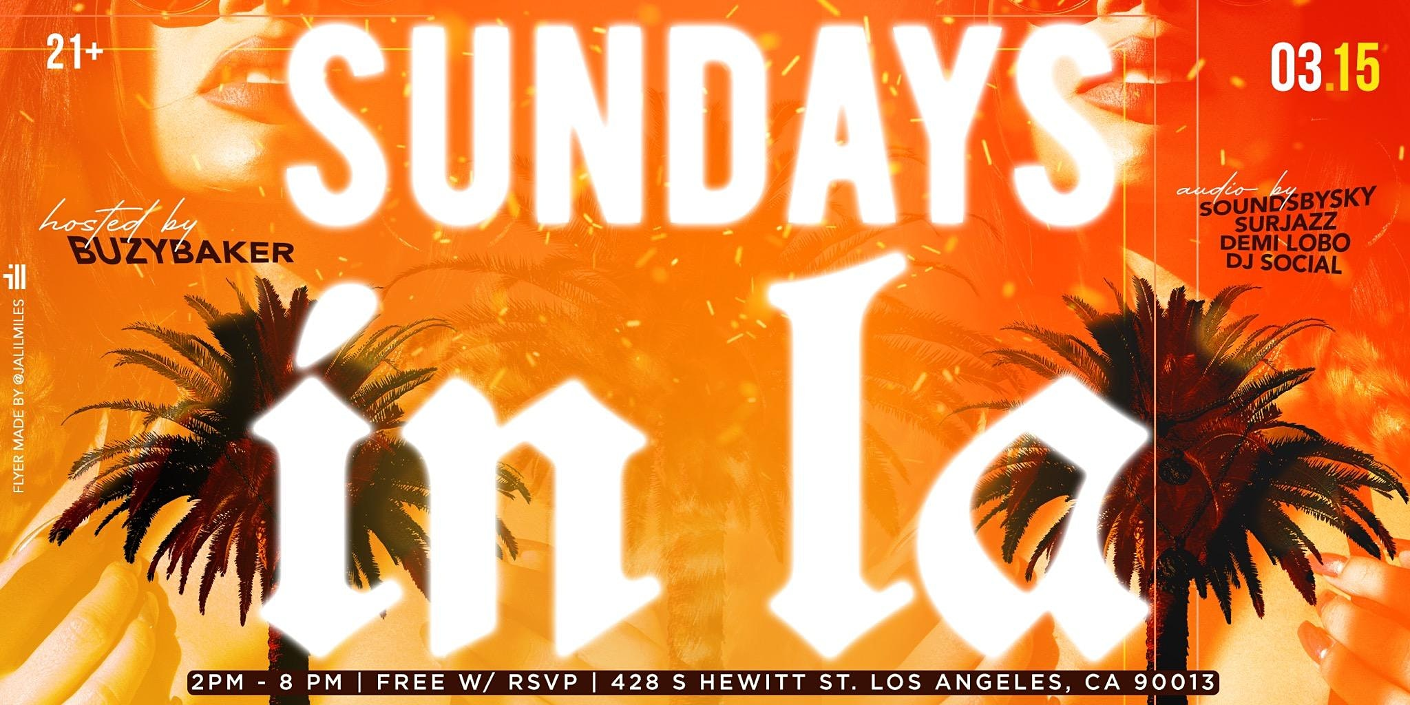 Sundays in LA - Day Party, No Cover with RSVP