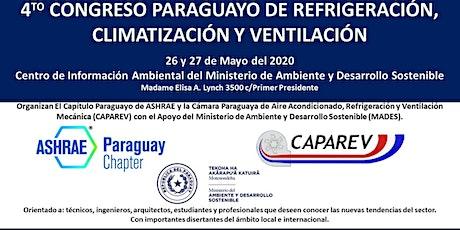 4to Congreso Paraguayo de Refrigeración, Climatización y Ventilación entradas
