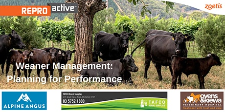 ReproActive Weaner Management - Planning For Performance tickets