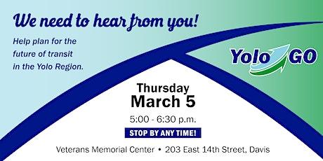 YoloGO Community Open House (Davis) tickets