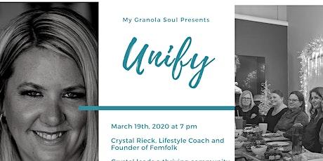 Unify - Speaker: Crystal Rieck tickets