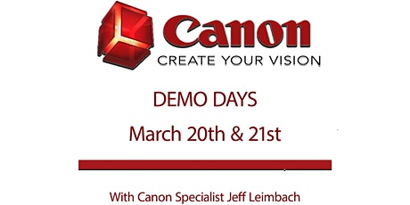 Canon Demo Days in March tickets