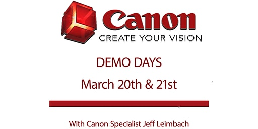 Canon Demo Days in March