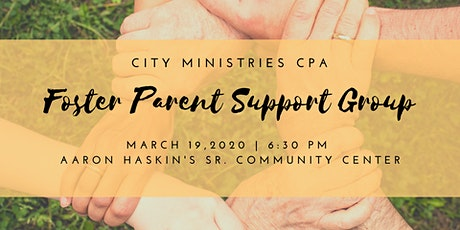 City Ministries CPA Foster Parent Support Group tickets