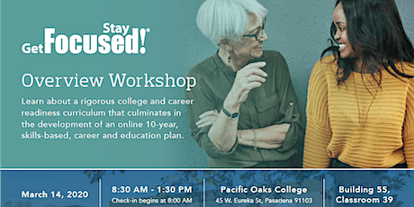 Pacific Oaks College: Get focused... Stay focused workshop tickets