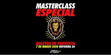 Master Class Especial boletos