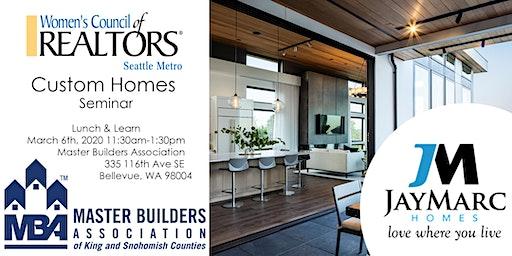 Custom Homes Seminar by Jay Marc Homes | Master Builders Association