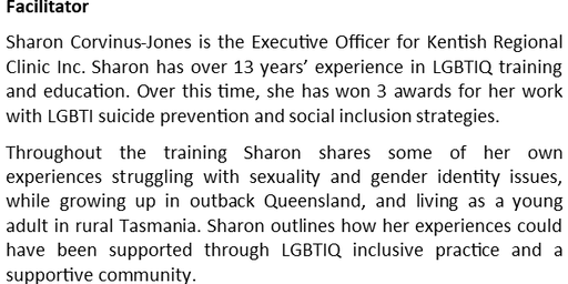 Providing an Inclusive Practice and Community for LGBTIQ People