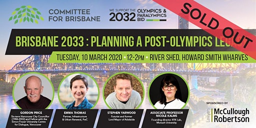 Brisbane 2033 - Planning a post-Olympics legacy