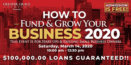 How To Fund & Grow Your Business 2020 tickets