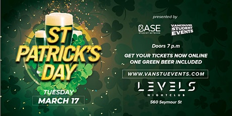 St Patrick's Day Party at LEVELS Nightclub tickets