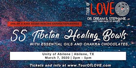 55 Tibetan Healing Bowls, Essential Oils & Chocolate, Abilene, TX tickets