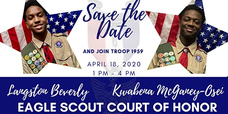 Troop 1959 Eagle Scout Court of Honor tickets