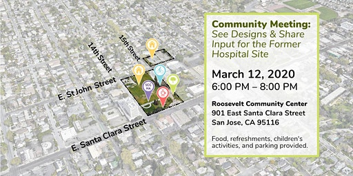 Community Meeting: See Designs & Share Input for the Former Hospital Site