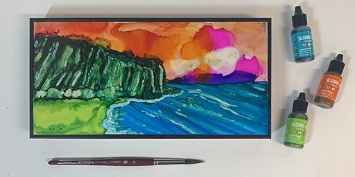 Landscapes with Alcohol Ink (Advanced) - Hilo