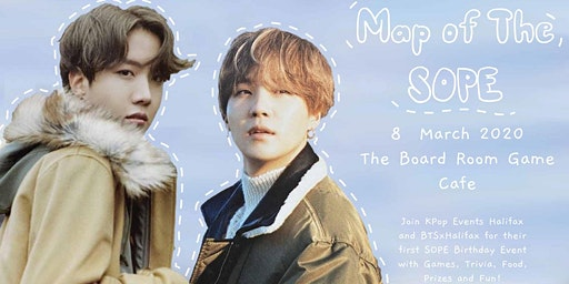 BTS Birthday Fan Cafe with KPOP Events Halifax - Map of the SOPE - EVENING SESSION!