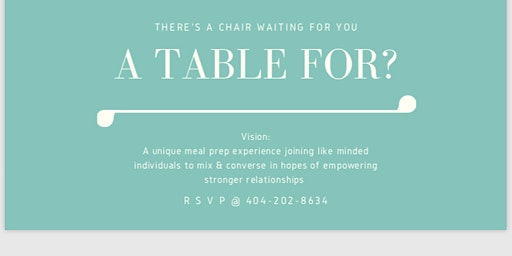 A Table For?