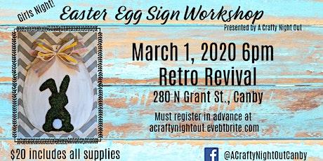 Easter Egg Sign Workshop tickets