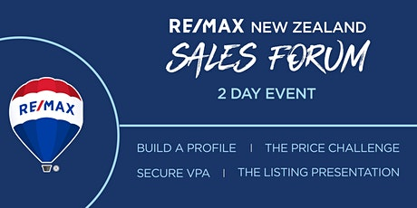 RE/MAX NEW ZEALAND SALES FORUM tickets