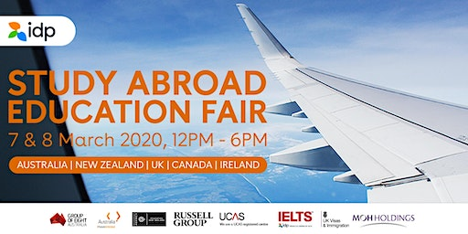 IDP Singapore - Study Abroad Education Fair March 2020
