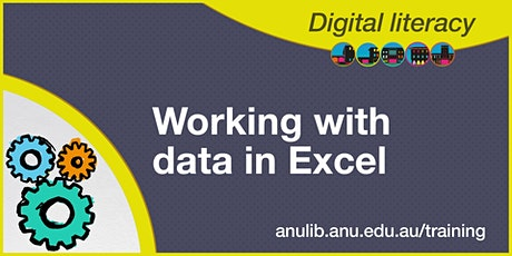 Working with data in Excel webinar tickets