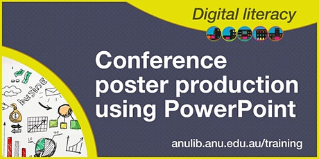 Conference poster production using PowerPoint webinar tickets