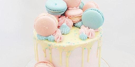French Macaron Drip Cake