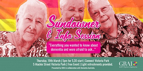 Sundowner and Info Session: Dementia Doesn't Discriminate tickets