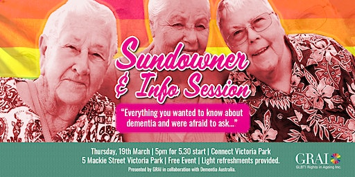 Sundowner and Info Session: Dementia Doesn't Discriminate