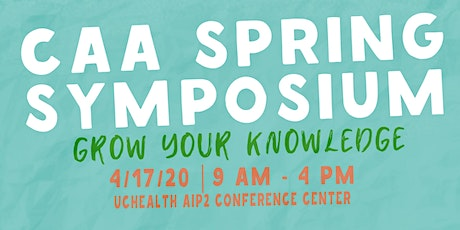 CAA 2020 Spring Symposium featuring Kathy Arehart, PhD and Katie Bright, PhD tickets