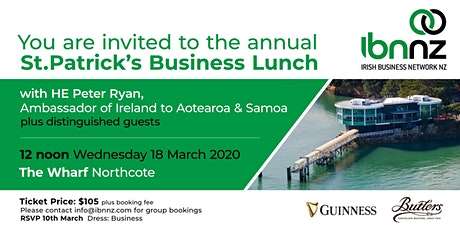 IBNNZ Auckland St. Patrick's Day Business Lunch tickets