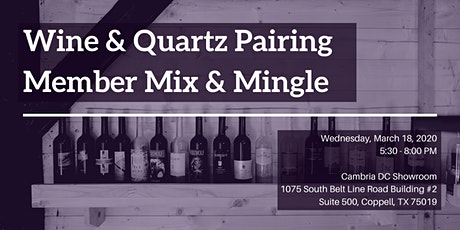 NKBA March Meeting - Wine & Quartz Pairing: Member Mix and Mingle tickets