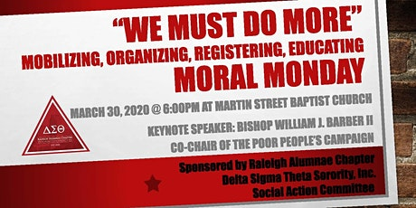 "Moral Monday ""We Must Do MORE""! tickets"